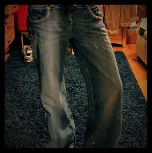 MEK/Buckle wide leg jeans. Great condition.